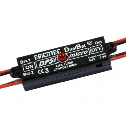 Emcotec DPSI Micro DualBat 5.9V/7.2V - dual power supply